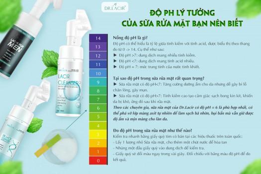 Độ pH sữa rửa mặt là gì ? Bao nhiêu là tốt