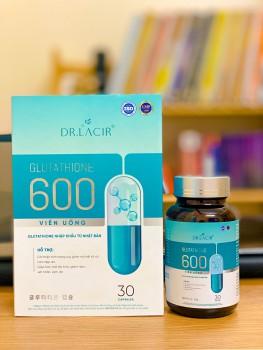 Viên uống trắng da Glutathione 600 Dr Lacir giá bao nhiêu?